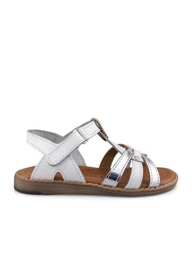 Cicibebe Kız Çocuk Sandalet Beyaz